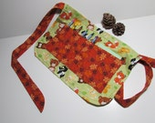 Kids Crayon Apron with crayons, pad, 'Woodland Creatures' child ART apron, play apron