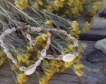 Seashell Bracelet Ocean Beach Shell Mermaid Stackable Beaded Bracelet