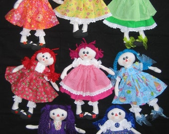 e-Pattern - Rainbow Raggie - cute ragdoll collection - PDF