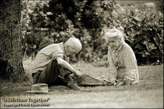 A LIFETIME TOGETHER, Clyde Keller photo, Etsy fp, 2X, treasury, Fine Art Print, Black and White, Signed, vintage 1965 image