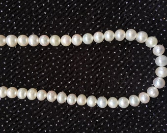 6.5mm White Freshwater Pearl Necklace  N8