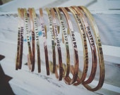Personalized Copper Or Brass Stacking Cuff