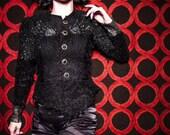 Black Sequined/Beaded Jacket