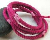 skinny pink rope bracelets soft string bangles nothing bracelets fuchsia rope bracelets grommet bracelets 3225