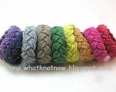 rope bracelet nautical bracelet sailor bracelet turks head knot bracelet hand dyed cotton three part bracelet rope jewelry