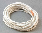 DIY white rope bracelet kit with cotton cord and printed instructions 2150