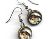 Dog Earrings, Surgical Steel Dog Earrings, Puppy Earrings, Small Doggy Earrings Surgical Steel Jewelry by AnnaArt72