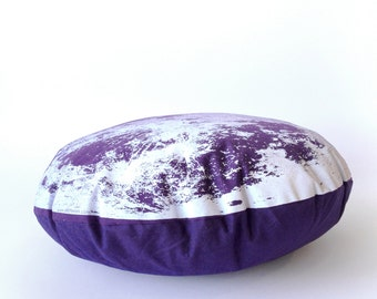 Moon Pillow, Purple Throw Pillow, Round Moon Cushion, Space Pillow, Kids Room Decor, Handmade Throw Pillow, Nursery Decor, Baby Shower Gift
