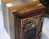 PO Box Bank - Collectible - Walnut and Curled Maple