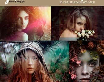 NATURAL LIGHT Photoshop Overlays 35 Pack, photoshop overlay, color effect, soft light effect, Rays of Sun, light overlays,