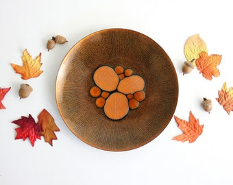 Mid Century Modern Enamel Copper Abstract Dish by Annemarie Davidson / Handcrafted California Enamelware