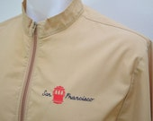 sale Vintage SAN FRANCISCO Cable Car lightweight jacket coat size Large made in USA