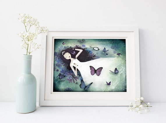 Prints By Deluxe: Items Similar To The Sleeping Beauty