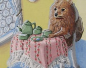 Afternoon Tea - OOAK Acrylic Painting