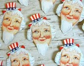 Whitney Made Uncle Sam Seals | Die-Cut Patriotic Labels | July 4th Stickers