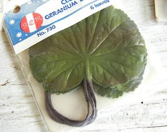 Cloth Geranium Leaves | NOS Leaves NIP | Vintage Millinery
