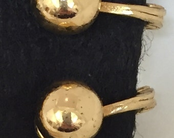1960s Monet gold tone classic ball style clip on earrings