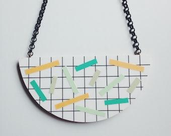 Statement Necklace - 'Dash' - Pastels