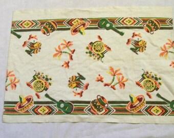 Southwestern Towel, Vintage Towel, Mexican Towel, , Southwestern Mexican Towel, 1950s
