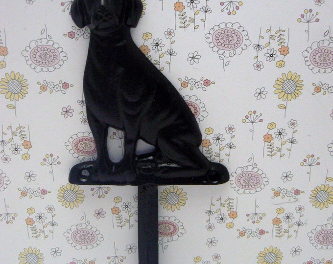 Dog Hook Cast Iron Black Leash Hook Home Decor