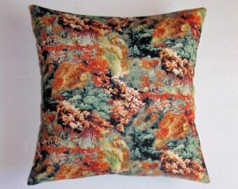 "AUTUMN Throw Pillow Cover, Autumn Medley Trees Pillow Cover, Seasonal Accent Pillow Cover, Fall Harvest Decor, Harvest Prints, 16x16"" Square"