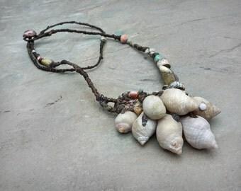 a beachcombers' pocketful  sculptural necklace
