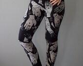 Oracle || Organic Hand Print Legging, Black legging, pocket legging, high waist legging, yoga legging, hand printed legging || by Simka Sol