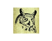 OWL HEAD Rubber Stamp~Large Cling Stamp~Halloween~Wildlife~Great Owl~Card Making~DIY~Crafting Supply~Stamping Mountainside Crafts(54-10 )