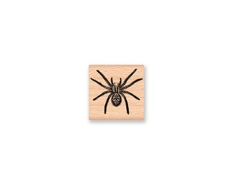 SPIDER Rubber Stamp~BLACK WIDOW~Halloween Stamps~Halloween Decor~Party Favors~Bug~Insect~Creepy~Supplies~Mountainside Crafts (34-26)