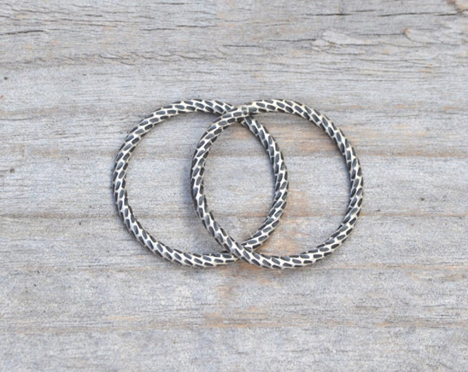 Textured Ring In Antique Style, Stackable Ring In Sterling Silver, Handmade Ring For Her