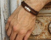 Brown Wrap Bracelet / Mens and Womens Leather Double Wrap / Taylor