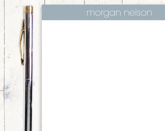 personalized notePAD - MODERN MINIMALIST - stationery - stationary - choose color