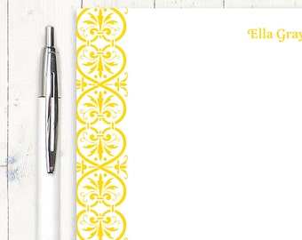 personalized notePAD - ELEGANT ELLA - stationery - stationary - womens stationery - fancy paper