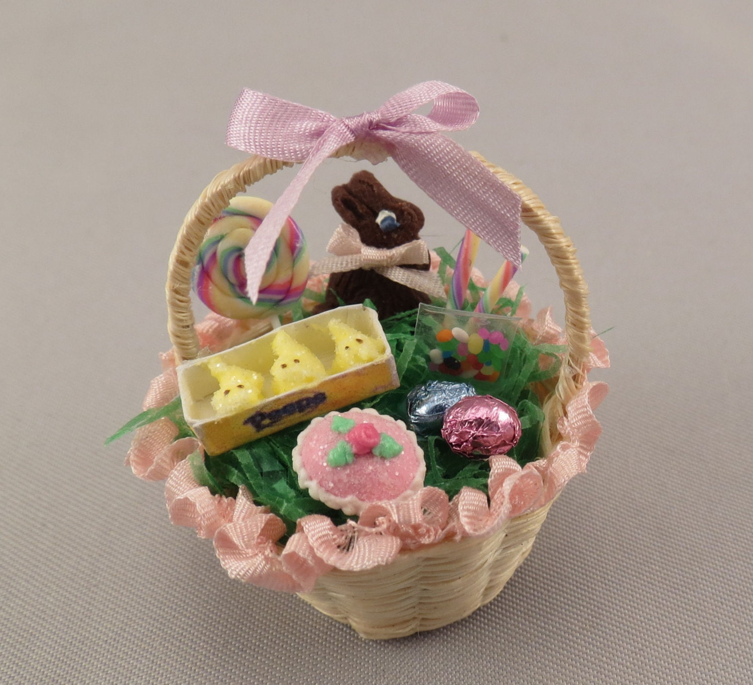 Dollhouse Miniature Filled Easter Basket by miniholiday on ... - photo#6