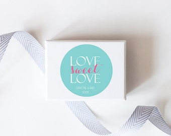 Love Sweet Love Wedding Favor Stickers  - Custom Labels // Sweets Table