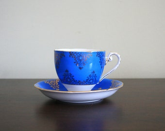 Royal Blue Royal Grafton Bone China Teacup