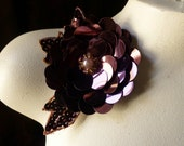 SALE Chocolate Plum Beaded Applique for Lyrical Dance, Headbands, Garments, Costumes
