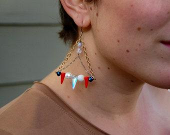 Triangle Spike Dangle Earrings