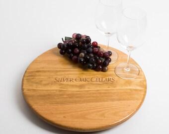 Silver Oak Wine Crate Lazy Susan
