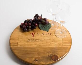 Cade Wine Crate Lazy Susan