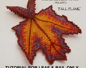 Fall Flame Beaded Maple LEAF & BAIL ONLY Tutorial