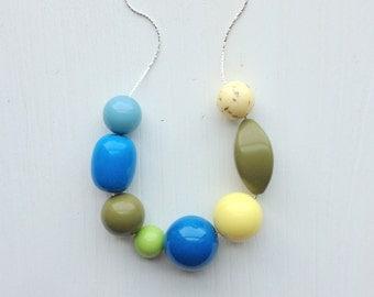 egg drop necklace - vintage remixed lucite