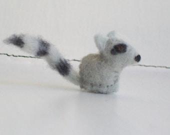 Tiny Raccoon - miniature raccoon tiny raccoon felt raccoon felted raccoon racoon raccoon collectables raccoon gifts