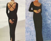 DKNY Bodycon Dress! Vintage 1994 Vogue American Designer DKNY Sewing Pattern 1365, Misses' Dress, Sizes 12-14-16, Uncut with Factory Folds