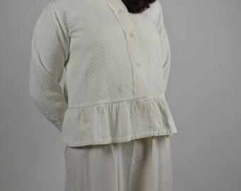 Cotton Bed Jacket Etsy