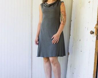 Hemp Drape Neck Dress - Hemp and Organic Cotton Knit - Made to Order - Choose Your Color