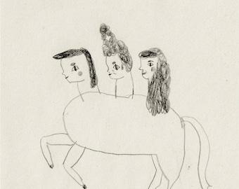 little horse print - open edition