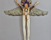 Double Leaf Angel - Lost and Found Series - Folk Art Angel