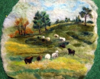Green Pastures Large Thyme Tile Needle Felting Kit