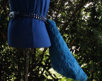Short Solid Royal Blue Tail